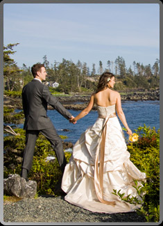 Ucluelet with wedding portraits in the Tofino area