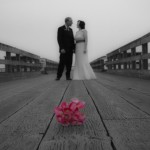 Sidney Pier wedding portrait