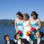 Wedding party in sooke