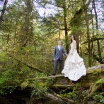 portrait in the old growth forest in tofino bc