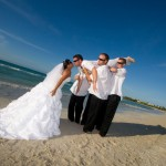 wedding portrait on the beach in Varadero, Cuba