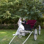 carriage ride for a bride in duncan