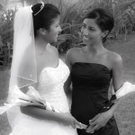 bride and bridesmaid in varadero cuba