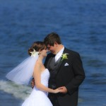 Romantic wedding portrait - Esquimalt Lagoon