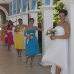 bride and bridesmaids in Cuba