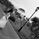 a groom playing on a pole in Varadero cuba