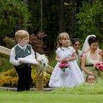 Flower girl and ring bearer at olympic view golf course