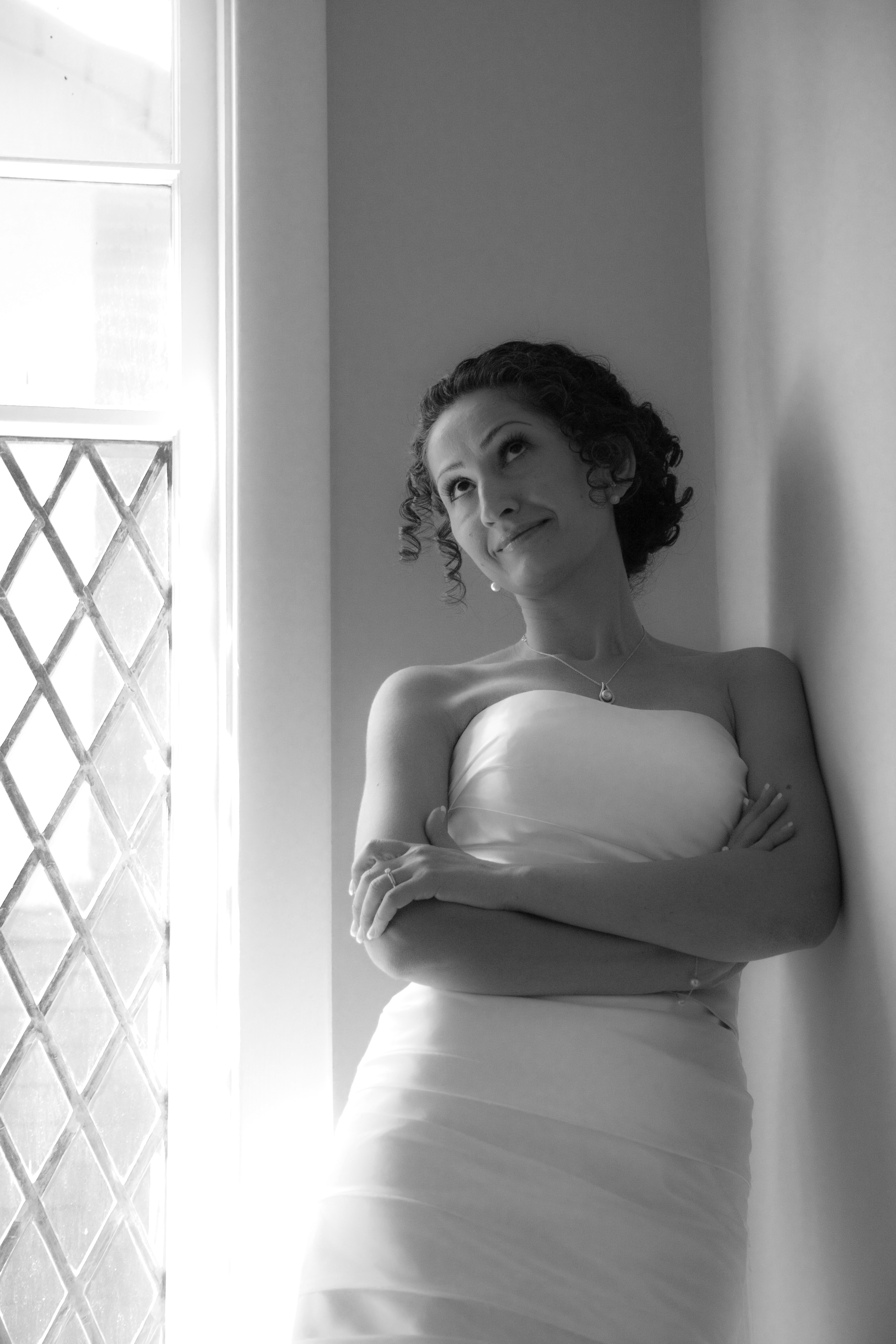 Wedding Portrait in  B&W