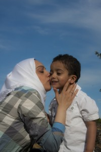 A nice moment with mother and son in Beacon Hill Park