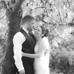 Bride & groom B&W in victoria bc
