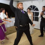 Best man dancing at wedding party