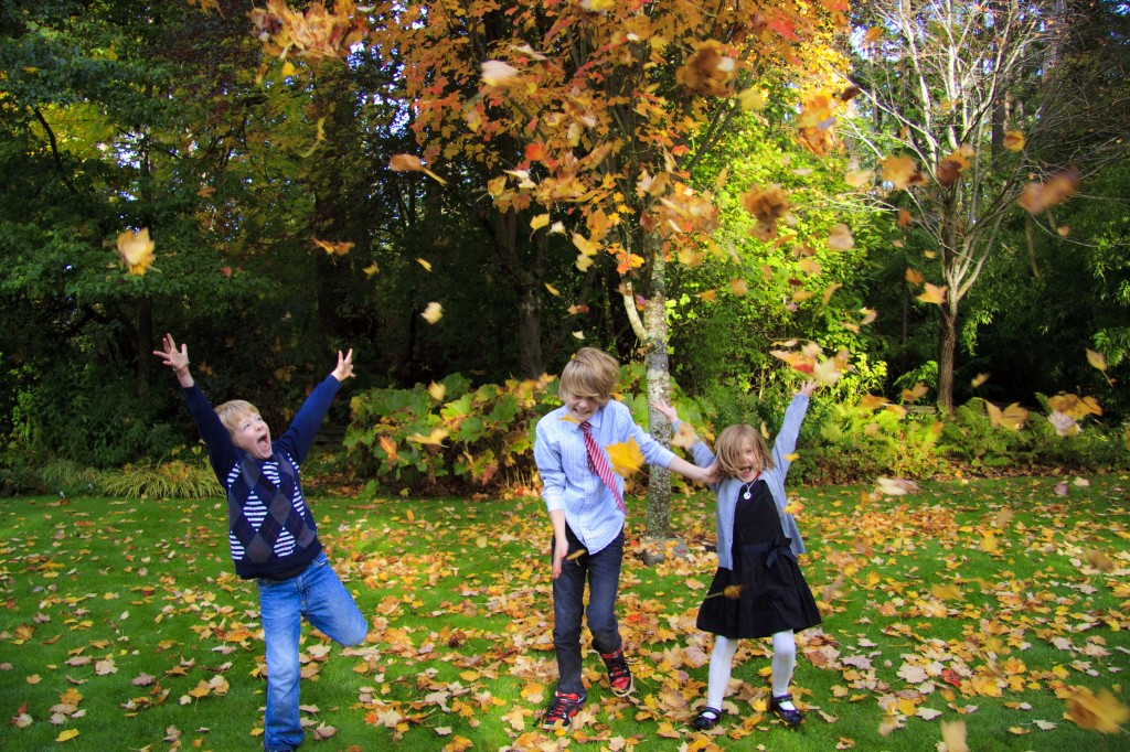 childrens portraits fall colours