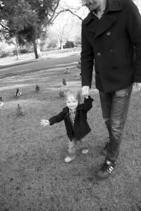 photo of child and ducks in victoria bc