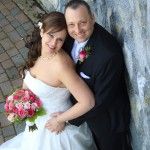 photo Bride and groom at bear mountian